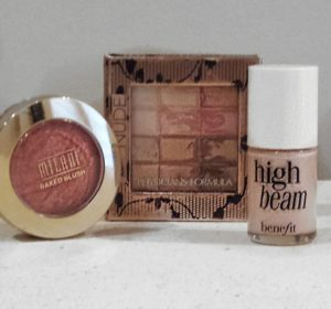 Highlight with Benefit's hig beam and Physician's Formula Nude Palette